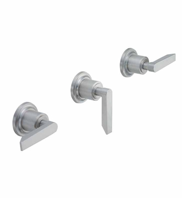 California Faucets TO-4503L-SC Rincon Bay Three Handle Tub and Shower Trim With Finish: Satin Chrome <strong>(USUALLY SHIPS IN 1-3 WEEKS)</strong>