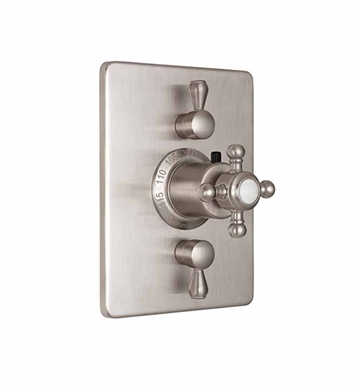 California Faucets TO-THC2L-47-PN Venice Styletherm Trim with Dual Volume Control With Finish: Polished Nickel <strong>(USUALLY SHIPS IN 5-12 BUSINESS DAYS)</strong>