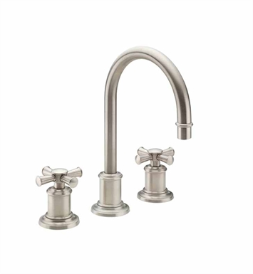 California Faucets 4802X-SN Miramar Widespread Lavatory Faucet With Finish: Satin Nickel <strong>(USUALLY SHIPS IN 1-5 BUSINESS DAYS)</strong>