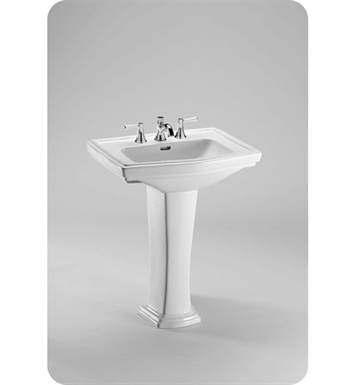 "TOTO LPT780.4#01 Clayton® Pedestal Lavatory With Finish: Cotton And Faucet Holes: Three Hole for 4"" Faucet Centers"