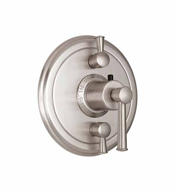 California Faucets TO-TH2L-48-BIS Miramar Styletherm Trim with Dual Volume Control With Finish: Biscuit <strong>(USUALLY SHIPS IN 1-3 WEEKS)</strong>