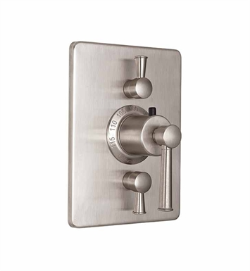 California Faucets TO-THC2L-48-SS Miramar Styletherm Trim with Dual Volume Control With Finish: Stainless Steel <strong>(USUALLY SHIPS IN 2-4 WEEKS)</strong>