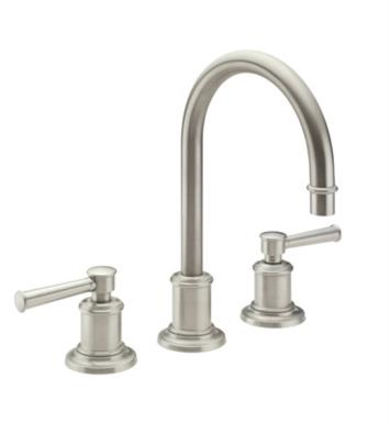 "California Faucets TO-4808-SB Miramar 10 3/4"" Two Handle Widespread/Deck Mounted Roman Tub Trim Faucet Set With Finish: Satin Brass <strong>(USUALLY SHIPS IN 4-6 WEEKS)</strong>"