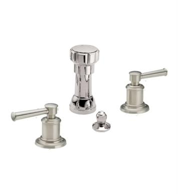 "California Faucets 4804-PN Miramar 5 3/8"" Widespread/Deck Mounted Bidet Faucet Set With Finish: Polished Nickel <strong>(USUALLY SHIPS IN 5-12 BUSINESS DAYS)</strong>"