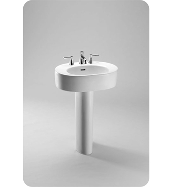"TOTO LPT790.4#51 Nexus® Pedestal Lavatory With Finish: Ebony <strong>(SPECIAL ORDER. USUALLY SHIPS IN 3-4 WEEKS)</strong> And Faucet Holes: Three Hole for 4"" Faucet Centers"