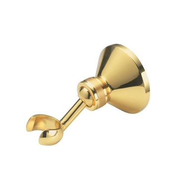 California Faucets SH-20-PBU Wall Bracket only for Handshower With Finish: Polished Brass Uncoated <strong>(USUALLY SHIPS IN 3-9 BUSINESS DAYS)</strong>