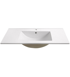 "Fresca FVS6236WH Torino 36"" White Integrated Sink with Countertop"