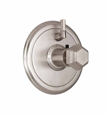 California Faucets TO-TH1L-51-BIS Sunset Styletherm Trim with Single Volume Control With Finish: Biscuit <strong>(USUALLY SHIPS IN 1-3 WEEKS)</strong>