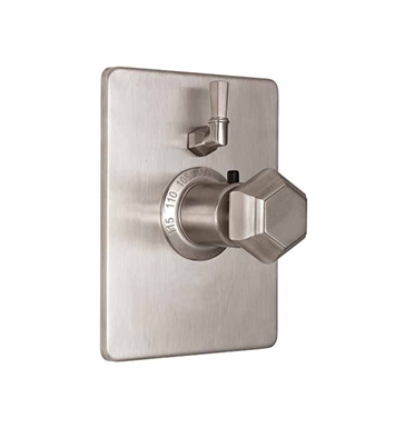 California Faucets TO-THC1L-51-PN Sunset Styletherm Trim with Single Volume Control With Finish: Polished Nickel <strong>(USUALLY SHIPS IN 5-12 BUSINESS DAYS)</strong>