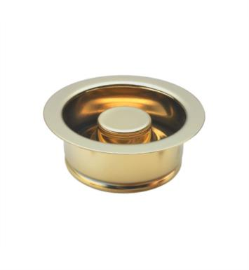 "California Faucets 9655-LPG 4 1/2"" Garbage Disposer Flange and Stopper With Finish: Lifetime Polished Gold <strong>(USUALLY SHIPS IN 2-4 WEEKS)</strong>"