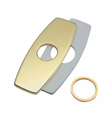 California Faucets 9676-PBU One Hole Faucet Cover Plate With Finish: Polished Brass Uncoated <strong>(USUALLY SHIPS IN 3-9 BUSINESS DAYS)</strong>
