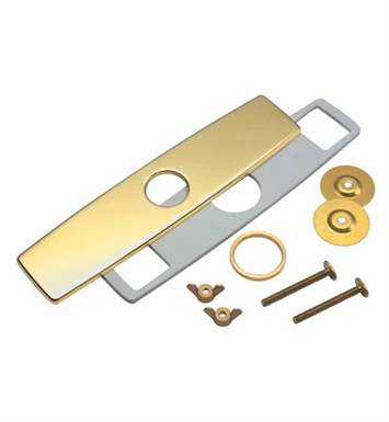 California Faucets 9677-FRG One Hole Faucet Cover Plate With Finish: French Gold <strong>(USUALLY SHIPS IN 6-8 WEEKS)</strong>