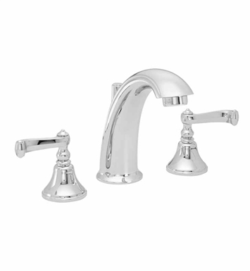 California Faucets 2102-SM Builders 21 Series High Spout Widespread Faucet with Smooth Scroll Lever Handles