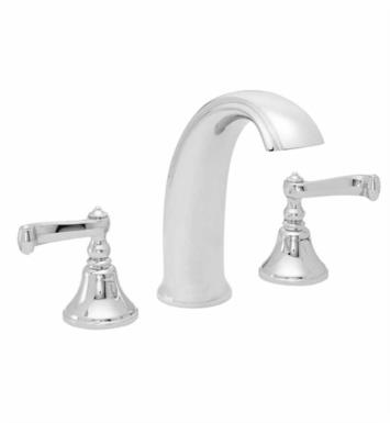 "California Faucets 2108-SM Builders 21 Series 7"" Widespread/Deck Mounted High Spout Roman Tub Faucet with Smooth Scroll Lever Handles"