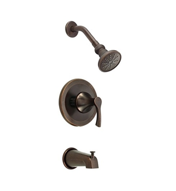 Danze D500022BRT Antioch™ Trim Only Single Handle Tub & Shower Faucet in Tumbled Bronze
