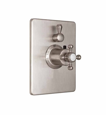California Faucets TO-THC1L-60-SN Styletherm Trim with Single Volume Control With Finish: Satin Nickel <strong>(USUALLY SHIPS IN 1-5 BUSINESS DAYS)</strong>