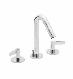 California Faucets Builders 22 Series 2202-ML Contemporary Widespread Faucet with Metal Lever Handles