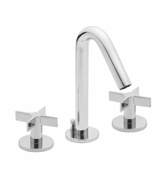 California Faucets Builders 22 Series 2202-CR Contemporary Widespread Faucet with Metal Cross Handles