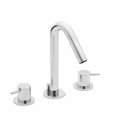 California Faucets Builders 22 Series 2202-CY Contemporary Widespread Faucet with Metal Cylinder Handles