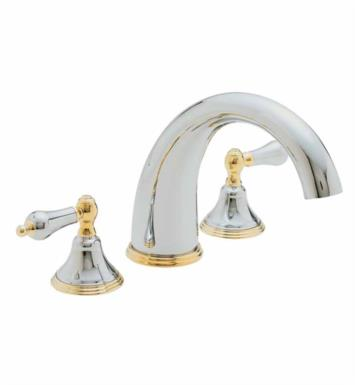 "California Faucets TO-5508-LSG Coronado 10 3/4"" Two Handle Widespread/Deck Mounted Roman Tub Trim Faucet Set With Finish: Lifetime Satin Gold <strong>(USUALLY SHIPS IN 3-5 WEEKS)</strong>"