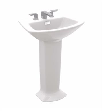 "TOTO LPT960.8#11 Soiree 29 1/2"" Vitreous China U-Shaped Pedestal Lavatory Sink With Finish: Colonial White And Faucet Holes: 8-Inch Centers"