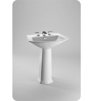 "TOTO LPT960.8#01 Soirée® Pedestal Lavatory With Finish: Cotton And Faucet Holes: Three Hole for 8"" Faucet Centers"