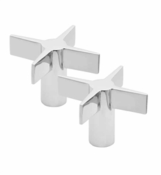California Faucets Builders 22 Series H-22-CR-PR Metal Cross Handle Pair