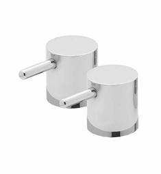 California Faucets Builders 22 Series H-22-CY-PR Metal Cylinder Handle Pair