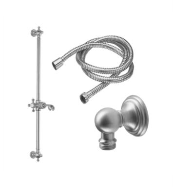 California Faucets 9129-60-BLKN Wall Mount Line Base Slide Bar Handshower Kit With Finish: Black Nickel <strong>(USUALLY SHIPS IN 3-5 WEEKS)</strong>