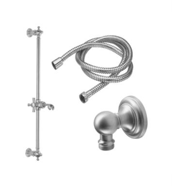 California Faucets 9129-48X-LSG Miramar Wall Mount Concave Base Slide Bar Handshower Kit With Finish: Lifetime Satin Gold <strong>(USUALLY SHIPS IN 3-5 WEEKS)</strong>