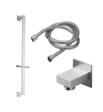 California Faucets 9128R-PC Wall Mount Rectangle Base Slide Bar Handshower Kit With Finish: Polished Chrome <strong>(USUALLY SHIPS IN 1-5 BUSINESS DAYS)</strong>