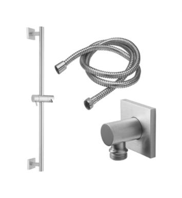 California Faucets 9128S-EB Avila Wall Mount Square Base Slide Bar Handshower Kit With Finish: English Brass <strong>(USUALLY SHIPS IN 4-6 WEEKS)</strong>