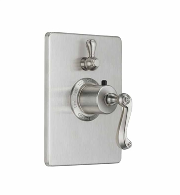 California Faucets TO-THC1L-59-PN Camarillo Styletherm Trim with Single Volume Control With Finish: Polished Nickel <strong>(USUALLY SHIPS IN 5-12 BUSINESS DAYS)</strong>