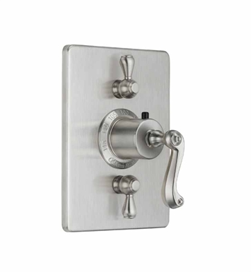 California Faucets TO-THC2L-59-PN Camarillo Styletherm Trim with Dual Volume Control With Finish: Polished Nickel <strong>(USUALLY SHIPS IN 5-12 BUSINESS DAYS)</strong>