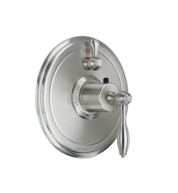 California Faucets TO-TH1L-64-BIS Mendocino Styletherm Trim with Single Volume Control With Finish: Biscuit <strong>(USUALLY SHIPS IN 1-3 WEEKS)</strong>