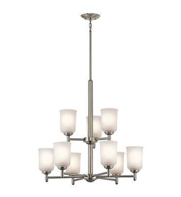 Kichler 43672NI Chandelier 9 Light With Finish: Brushed Nickel