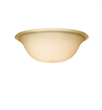 "Kichler 340014 11"" Universal Bowl Umber Etched Fan Glass Shade in Umber"