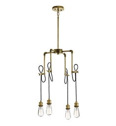 Kichler 43587NBR Mini Chandelier 4 Light in Natural Brass