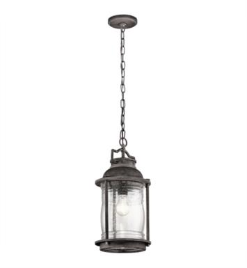 Kichler 49572WZC Ashland Bay 1 Light Incandescent Outdoor Hanging Pendant in Weathered Zinc