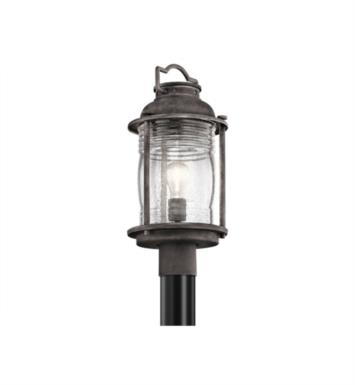 Kichler 49573WZC Ashland Bay 1 Light Incandescent Outdoor Post Mount Lantern in Weathered Zinc