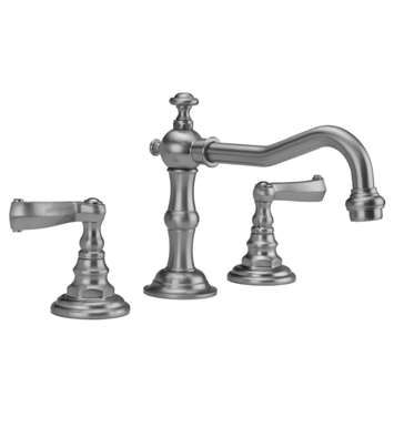 Jaclo 7830-T667-PEW Roaring 20's Widespread Faucet with Ribbon Lever Handle With Finish: Pewter