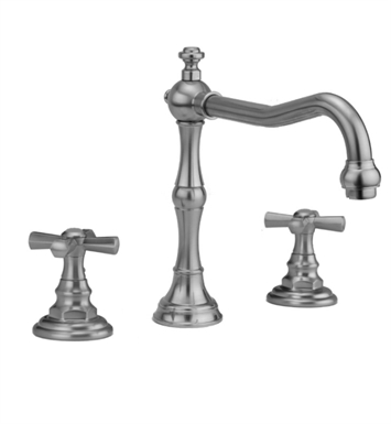 Jaclo 9930-T676-TRIM-SN Roaring 20's Roman Tub Faucet with Hex Cross Handles With Finish: Satin Nickel