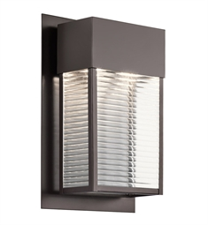 Kichler 49190AZLED Outdoor Wall 2 Light LED in Architectural Bronze