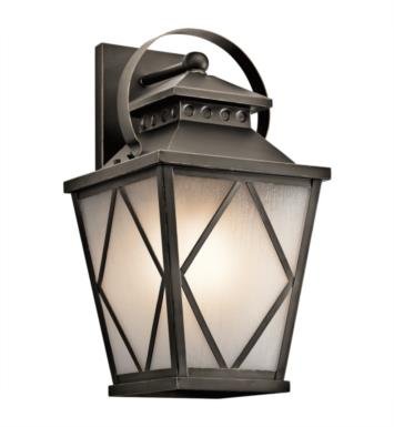 "Kichler 49293OZ Hayman Bay 1 Light 11"" Incandescent Outdoor Wall Sconce in Olde Bronze"