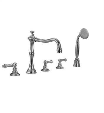 Jaclo 9930-T679-S-240-TRIM Roaring 20's Roman Tub Faucet with Straight Handshower & Traditional Lever Handles