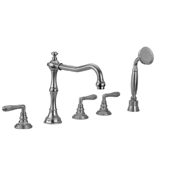 Jaclo 9930-T674-S-240-TRIM Roaring 20's Roman Tub Faucet with Angle Handshower & Traditional Lever Handles