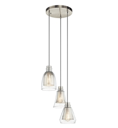 Kichler 43627NI Pendant 3 Light in Brushed Nickel