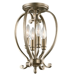 Kichler 43168SGD Semi Flush 4 Light in Sterling Gold