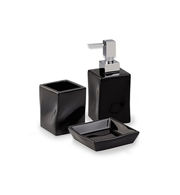 Nameeks FA100-14 StilHaus Bathroom Accessory Set With Finish: Black