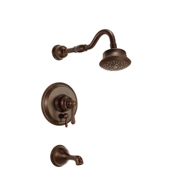 Danze D512157BRT Opulence™ Trim Only Single Handle Pressure Balance Tub & Shower Faucet in Tumbled Bronze